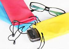 Eyeglass Pouch Super Soft Sunglass MP3 Cell Case Bag Holder SEE DESC!