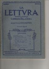 RIVISTA LA LETTURA N.5 1903 G.GIACOSA ROSA GEROLA RENATO SIMONI FUMAGALLI ONGARO