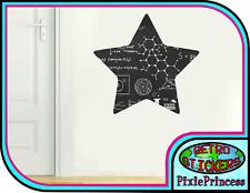 Star Space Blackboard L Sticker Wall Poster Art Kids Bedroom Chalkboard Decal
