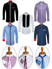 Men's Luxury Casual Shirts Men Formal Italian Designer Dress Shirts S M L XL XXL