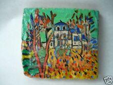 Antico mattone decorato e dipinto a mano paesaggio