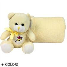 Plaid pile morbido peluche orsetto copertina idea regalo neonato coperta