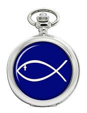 Jesus Fish Ichthys Pocket Watch