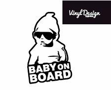 Baby on board car window vinyl sticker
