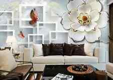 3D Farfalle colorate Parete Murale Carta da parati immagine sfondo muro stampa