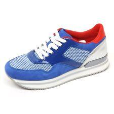 C7618 sneaker donna HOGAN H222 scarpa bluette/argento shoe woman