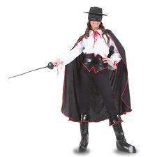 VESTITO COSTUME Maschera di CARNEVALE Adulti VENDICATRICE Zorro