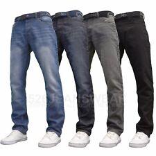 APT da uomo di marca Classic Fit Dritto Jeans Con Cintura Gratis, nuovo con etichetta