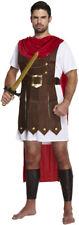 Mens Roman Gladiator Spartan Costume Toga Emperor Warrior Greek Fancy Dress