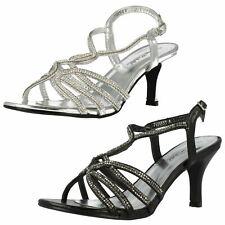 Ladies Anne Michelle Diamante Detail 'Peep Toe Heels'
