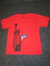 Hombre Auténtico DC Moda Informal Skate camiseta S M L XL XXL rojo liberty DC16