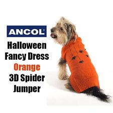 NUOVO Ancol Halloween Spooky Arancione SPIDER Sweater Maglione Cane Costume 5 Taglie