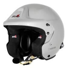 Stilo Trophy DES PLUS FIA Approved Snell 2015 Silver Rally Helmet & HANS Posts