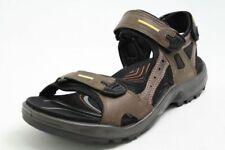 Ecco Sandalen braun Nubuk Leder Klettverschluss mit Receptor Laufsohle