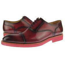Carrucci Cap Toe Leather Oxford, Men's Dress/Casual Shoes, Burgundy