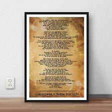 Desideratum-mots pour la vie Citation littéraires Citation Art Imprimé Cadeau Poster Home Dec