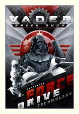 Vader Speed Shop Stormtrooper Speeder Bike Star Wars Postmodern Giclée on Canvas