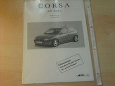 15431) Opel Corsa Atlanta Preise Extras Prospekt 01/96