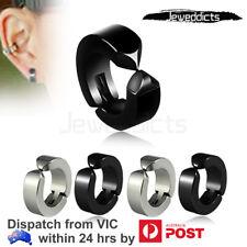 2-8PCS Fake Ear Hoops Non-piercing Earrings Ear Clip Men Women Stainless Steel