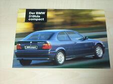 38445) BMW 318 tds compact Prospekt 1995