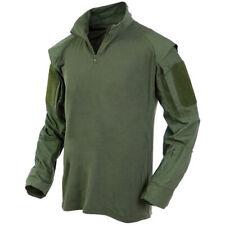 MFH Chemise Tactique US T-shirt à Poches Manches Longues Armée Combat Vert Olive