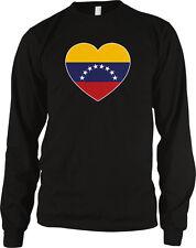 Venezuela Flag Heart Colors Venezuelan Love National Pride Country Men's Thermal