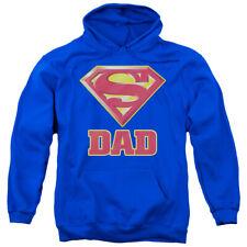 Superman Super Dad Adult Pullover Hoodie Navyall