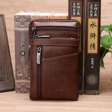 Men's Fanny Waist Hook Belt Pack Genuine Leather Cell Phone Small Shoulder Bag