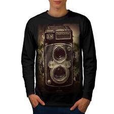 Old Foto Camera Men Long Sleeve T-shirt NEW | Wellcoda