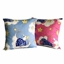 43.2cmx43.2cm Kinder Kinder Kindergarten Kissenbezüge Sterne und Teddy pink/blau