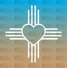 "ZIA New Mexico Heart Symbol State Flag 5"" Love JDM Custom Vinyl Decal"