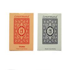 1 X Blu/Rosso Gufo Fortuna Dicendo da Mlle Lenormand 36 carte deck