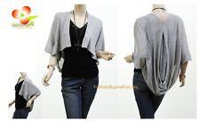 Women Boho Ruffle Lace Pouch Back Knit Shawl Sweater Cardigan Blouse Shirt Top G