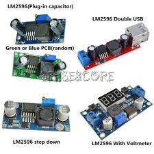 DC-DC LM2596 Buck Step-down Power Converter Module Double USB/LED Voltmeter