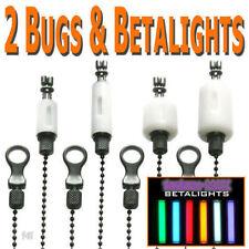 Gardner Tackle Bug Bite Indicators White & Betalights (Set of 2) - Carp Fishing