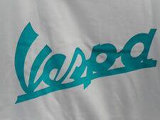 La vendita VESPA Scroll Aqua Blu Taglie Forti T-shirt donna Lambretta Vespa Scooter Mod
