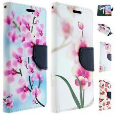 Handy Tasche für ASUS Flip Cover Case Schutz Hülle Etui Wallet Motiv BLUMEN
