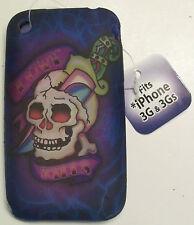 iPhone 3G 3Gs TPU gel case cover skin skull knife love kills phone apple biker