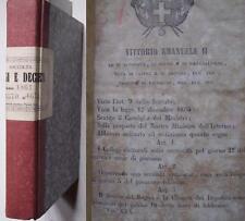 150° unità d'Italia Regi leggi decreti 1861 gennaio feb