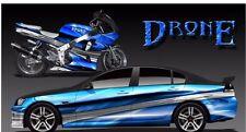 Drone go kart race car vinyl graphic decal half wrap