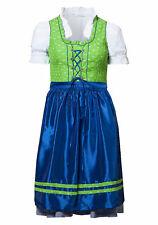 New Style by sheego Dirndl Kleid 3- teilig Grün Blau Weiß