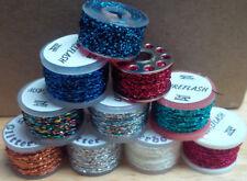 Glitter Body, Various Brands, 4 yard spools, Various Colors,