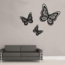 Butterfly Trio Wall Art Sticker Art Vintage Shabby Chic Room (BB17)