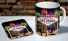 Las Vegas Sign Nevada Tea / Coffee Mug Coaster Gift Set