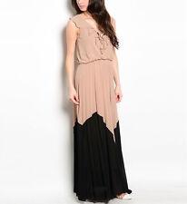 Women maxi Dress chevron spring summer long dresses casual party S M L