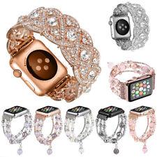 Crystal Rhinestone Diamonds Beads Bracelet Watch Band Strap For Apple watch 3842