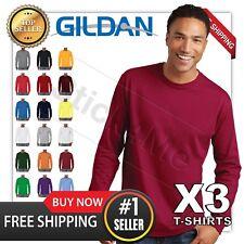 LOT of 3 NEW BLANK MANS GILDAN LONG Sleeves t shirt casual 3 DAYS SALE!