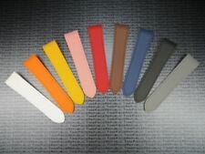 New 23mm PU Rubber Strap CARTIER SANTOS 100 XL Watch Band Orange Red Blue White
