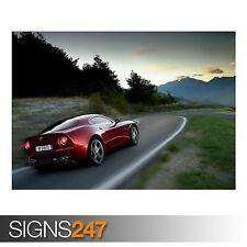 ALFA ROMEO 8C COMPETIZIONE (AB276) CAR POSTER - Poster Print Art A0 A1 A2 A3