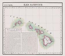 Old State Map - Hawaii - Vandermaelen 1827 - 23 x 26.36